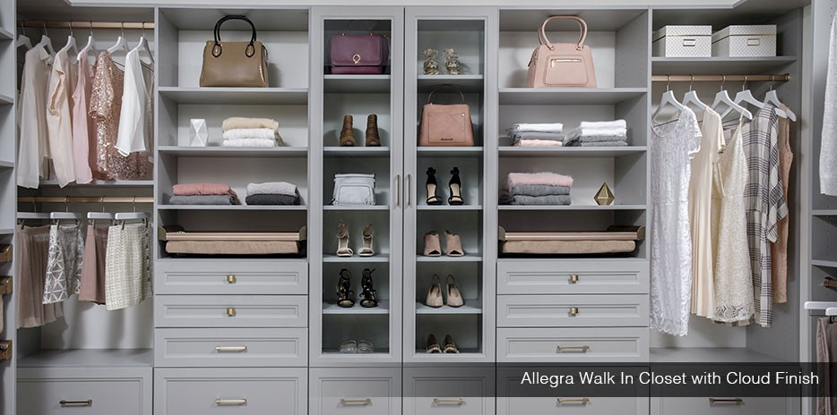Allegra Walk In Closet with Cloud Finish