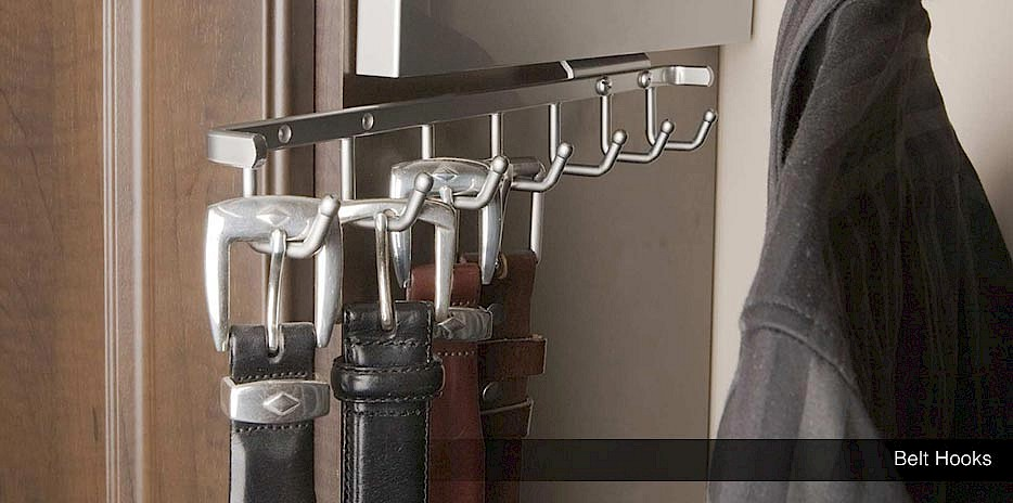 Belt organization is a cinch with our premium chrome belt hooks!