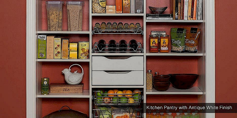 This open kitchen pantry organization system is perfect for big or tiny kitchens