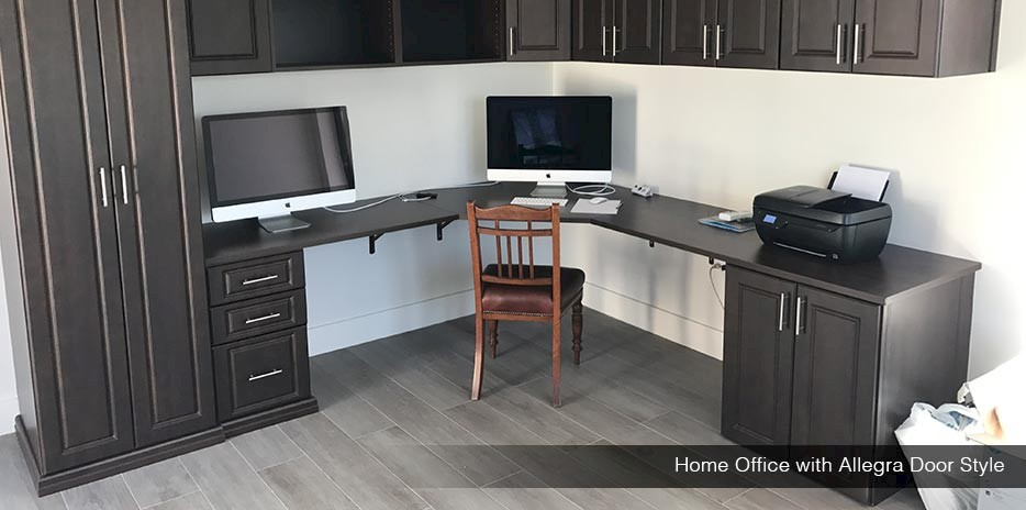 Home Office with Allegra Door Style