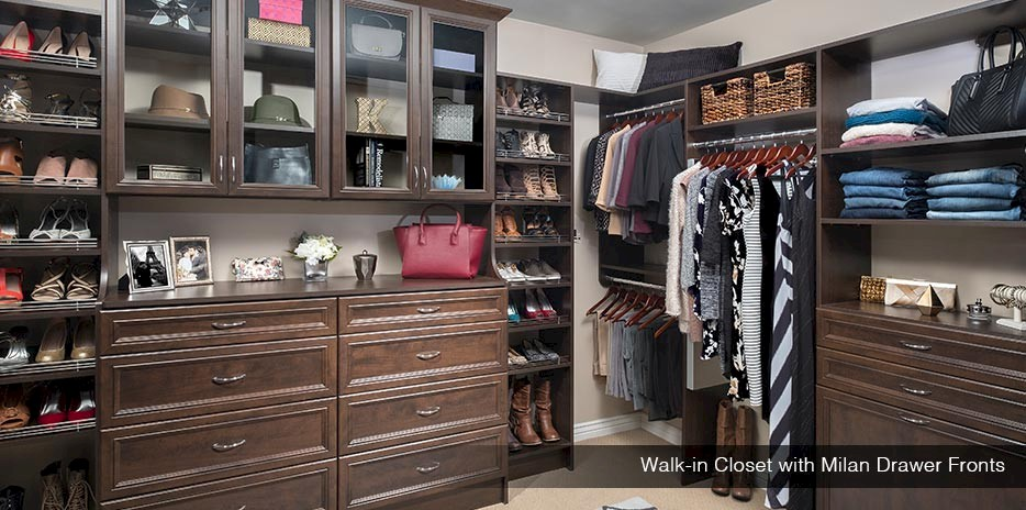 Walk In Closet with Milan Drawer Fronts